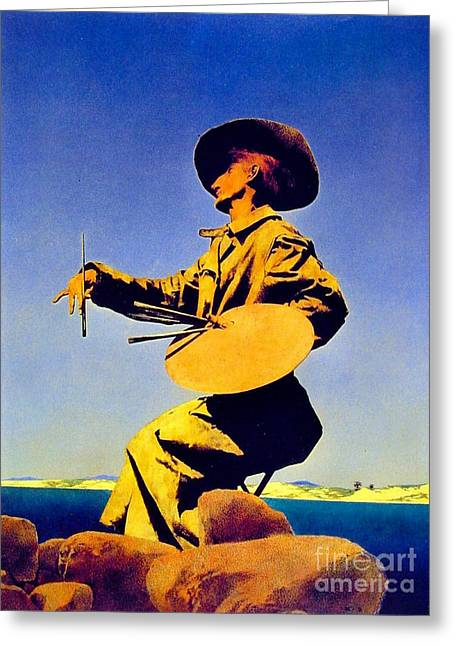 The Artist 1909 Greeting Card by Padre Art