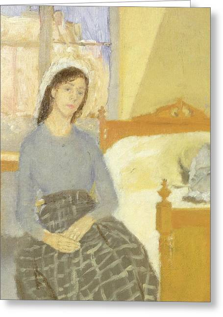 Self View Greeting Cards - The Artist in her Room in Paris Greeting Card by Gwen John