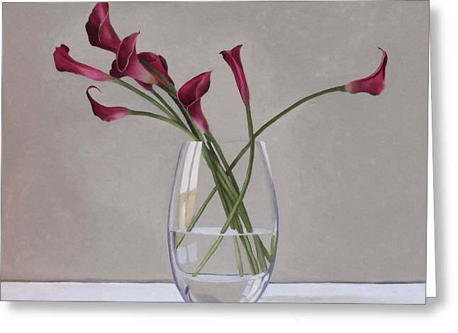 Calla Lily Greeting Cards - The Artists Life Greeting Card by Linda Tenukas