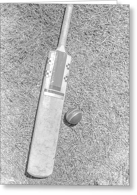 Cricket Bat Greeting Cards - The ashes Greeting Card by Ryan Jorgensen