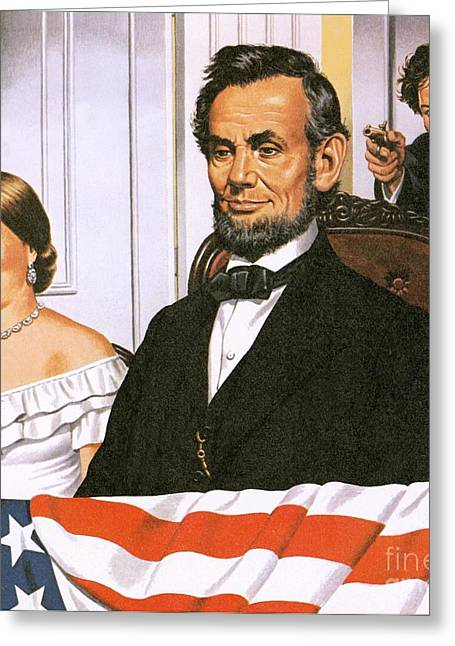 Civil Greeting Cards - The Assassination of Abraham Lincoln Greeting Card by John Keay