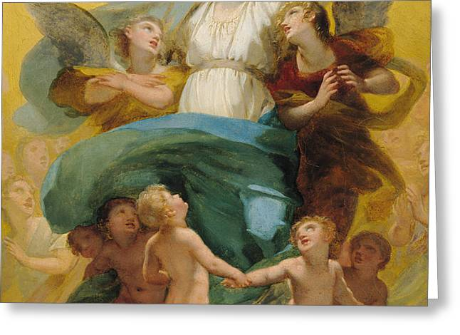 The Assumption of the Virgin Greeting Card by Pierre Paul Prudhon