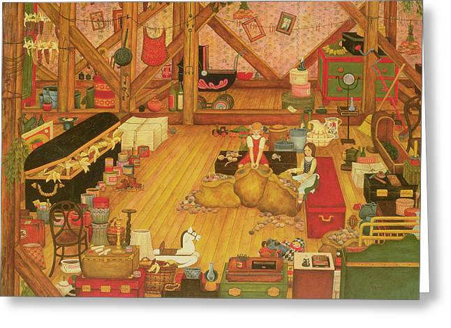 The Attic Greeting Card by Ditz