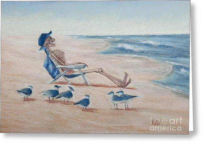 Tern Greeting Cards - The Audience Greeting Card by Marie  Marfia