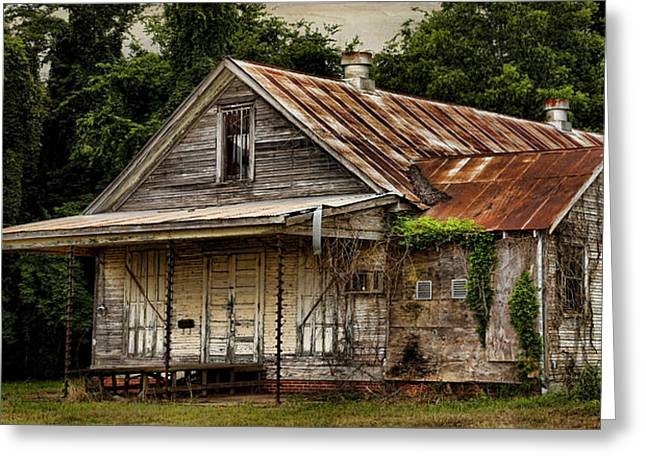 Shack Greeting Cards - The Auger Building 2 Greeting Card by Judy Vincent