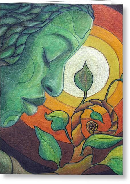 Pastel Drawing Greeting Cards - The Awakening Greeting Card by Kimberly Kirk