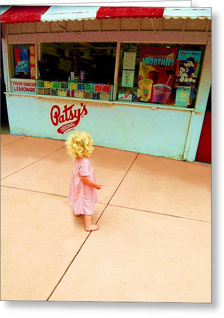 Store Fronts Greeting Cards - The Candy Store Greeting Card by Lanita Williams