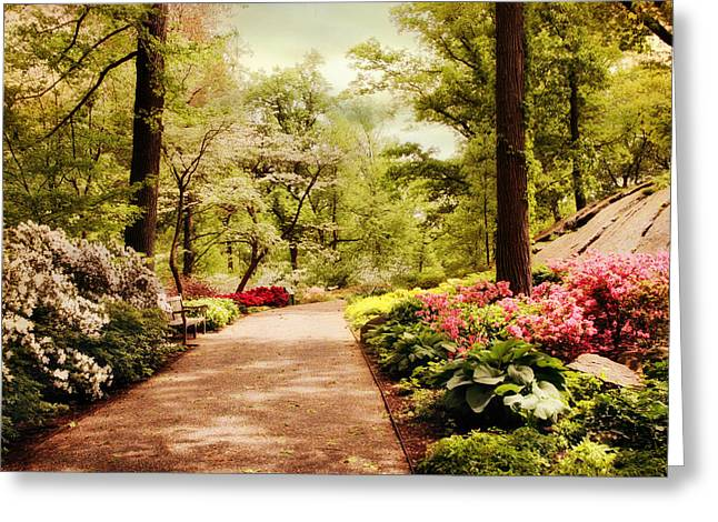 Botanical Gardens Greeting Cards - The Azalea Forest Greeting Card by Jessica Jenney