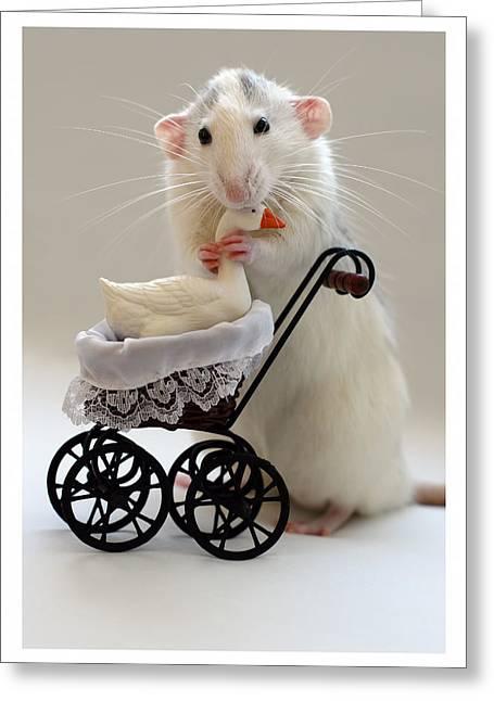 The Babysitter Greeting Card by Ellen Van Deelen
