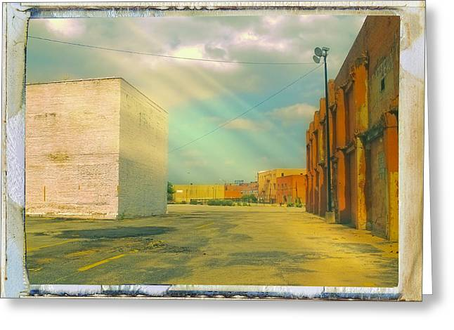 Transfer Greeting Cards - The Back Lot Greeting Card by Dominic Piperata