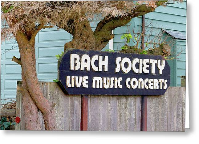 The Bach Society Greeting Card by Art Block Collections