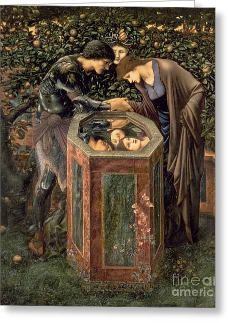 Reflecting Water Greeting Cards - The Baleful Head Greeting Card by Sir Edward Burne-Jones