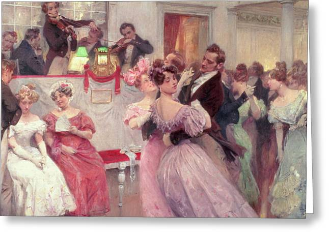 Early Greeting Cards - The Ball Greeting Card by Charles Wilda
