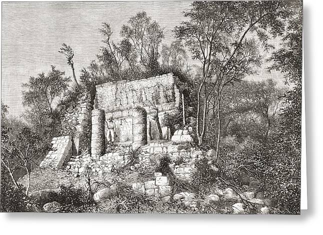 Civilization Greeting Cards - The Ball Court, Chich Greeting Card by Ken Welsh