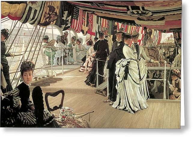 The Ball Greeting Cards - The Ball on Shipboard Greeting Card by James Tissot