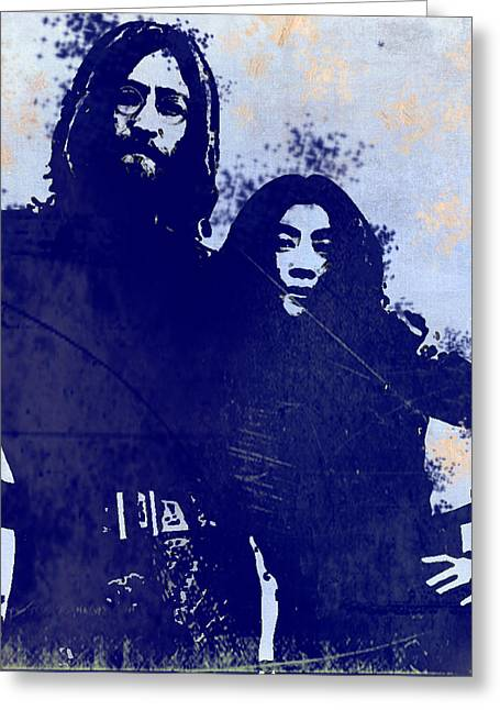 The Ballad Of John And Yoko Greeting Card by Bill Cannon