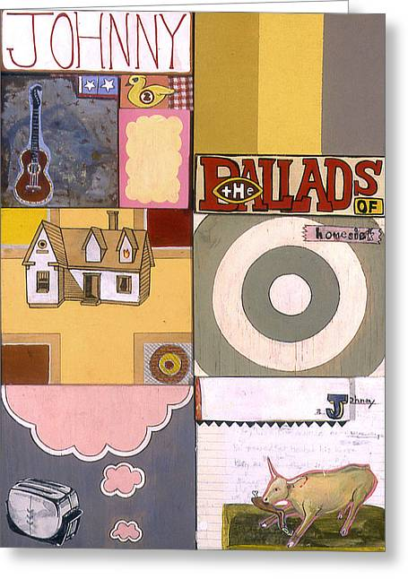 Toaster Mixed Media Greeting Cards - The Ballads of Homesick Johnny Poster Greeting Card by Karl Frey