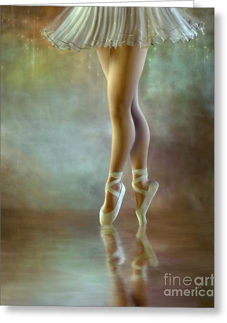 Tutu Mixed Media Greeting Cards - The Ballerina Greeting Card by AnaCB Studio