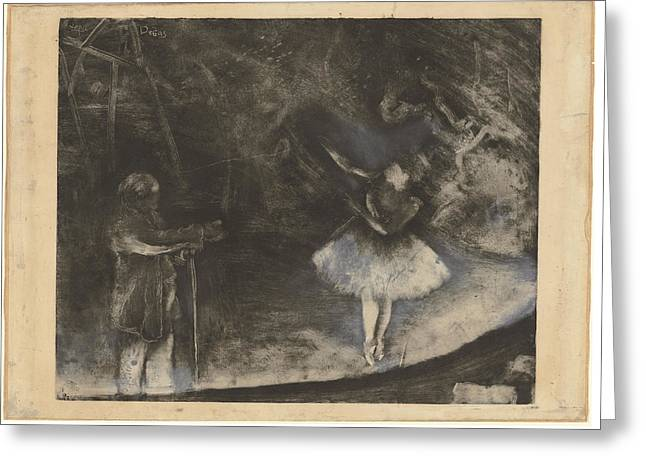 The Ballet Greeting Cards - The Ballet Master le Maetre De Ballet Greeting Card by Edgar Degas - Executed In Collaboration With Vicomte Lepic
