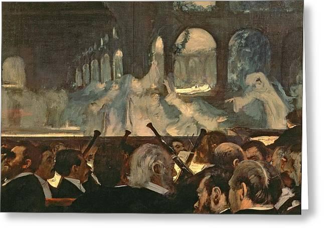 The ballet scene from Meyerbeer's opera Robert le Diable Greeting Card by Edgar Degas