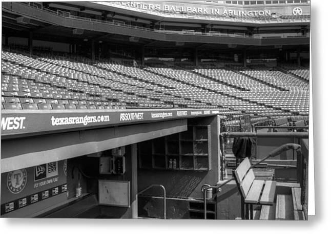 The Ballpark In Arlington Greeting Card by Ricky Barnard