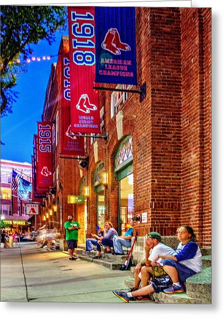 Boston Red Sox Greeting Cards - The Banners 126 Greeting Card by Jeff Stallard