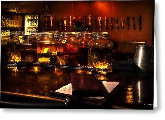 Tap Greeting Cards - The Bar Life Greeting Card by Wayne Kondoff