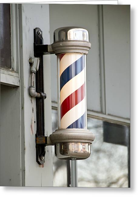 Scissors Greeting Cards - The Barber Shop 4 Greeting Card by Angelina Vick