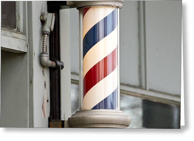 The Barber Shop 4 Greeting Card by Angelina Vick