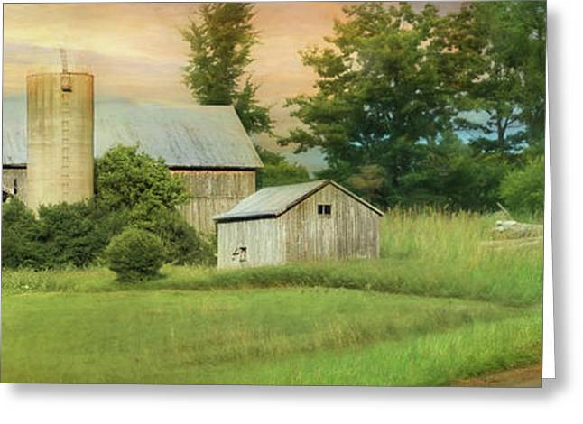 The Barefoot Farm Boy Greeting Card by Lori Deiter