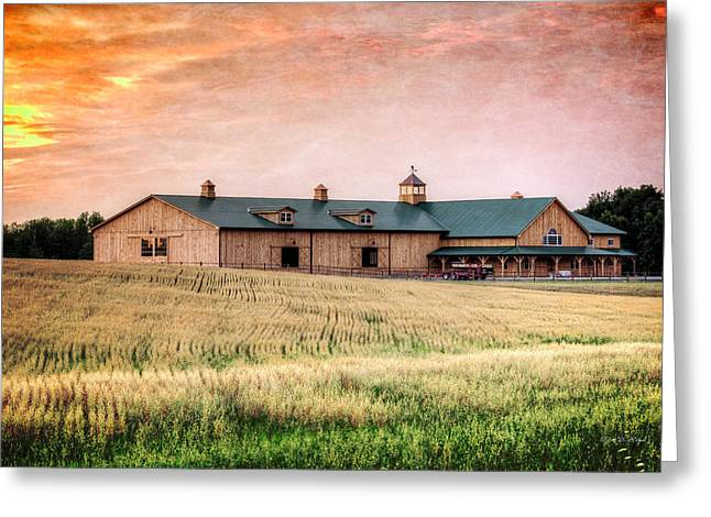 Clydesdale Greeting Cards - The Barn II Greeting Card by Everet Regal