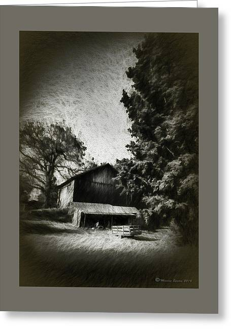 The Barn Yard Wagon Greeting Card by Marvin Spates