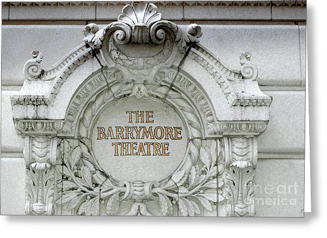 Adspice Studios Art Greeting Cards - The Barrymore Theatre Architectural Frieze Greeting Card by Anahi DeCanio - ArtyZen Studios