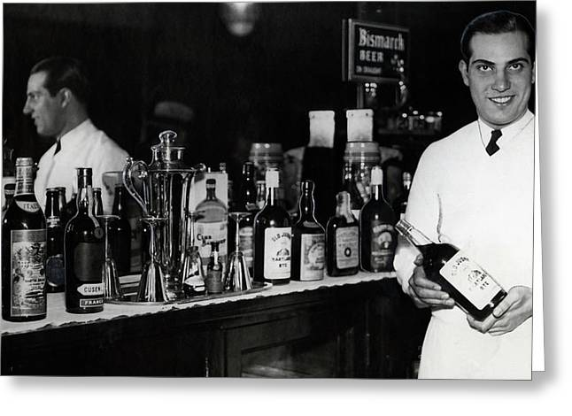 The Bartender Is Back - Prohibition Ends Dec 1933 Greeting Card by Daniel Hagerman