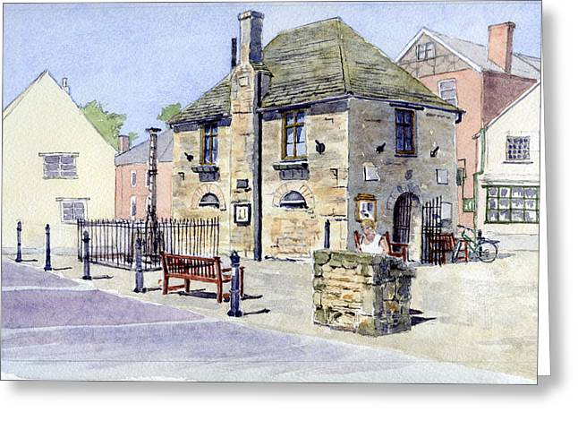 Repaired Paintings Greeting Cards - The Bartholomew Rooms at Eynsham Greeting Card by Mike Lester