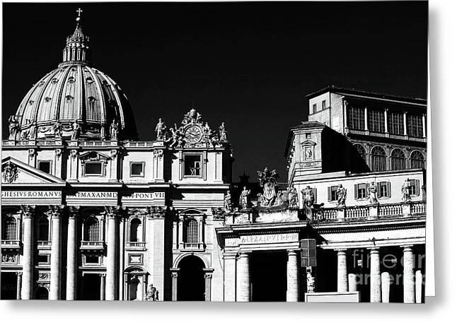 Peter Art Prints Posters Gallery Greeting Cards - The Basilica Greeting Card by John Rizzuto