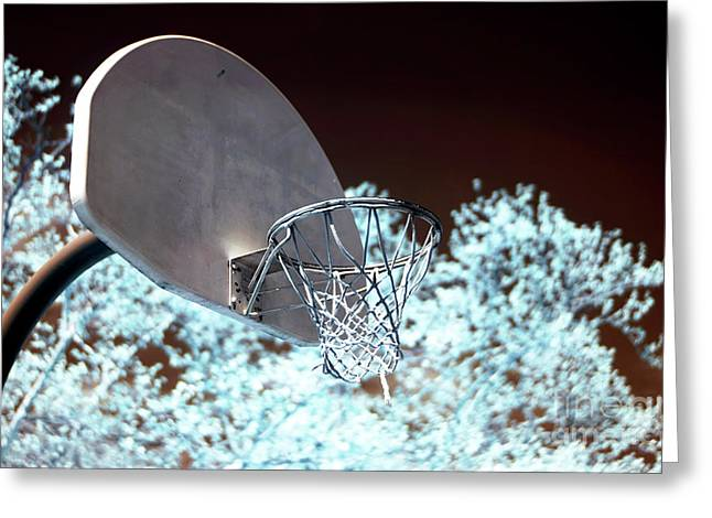 Backboard Greeting Cards - The Basket Greeting Card by John Rizzuto