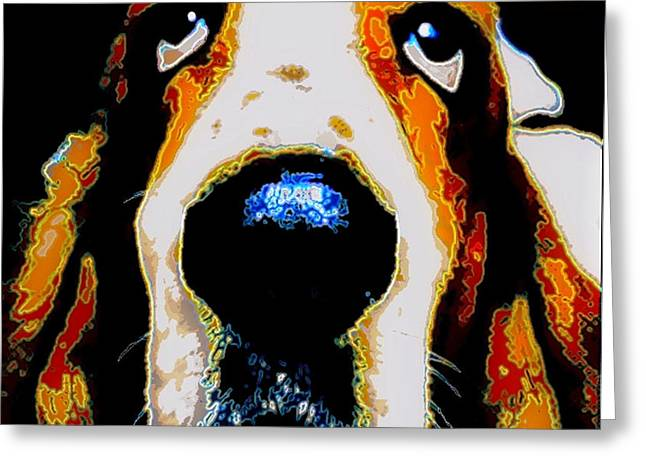 Basset Hound Greeting Cards Greeting Cards - The Basset  for Warhol Greeting Card by Marysue Ryan