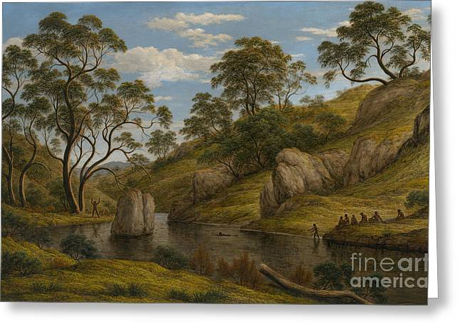 The Trees Greeting Cards - The bath of Diana Greeting Card by John Glover