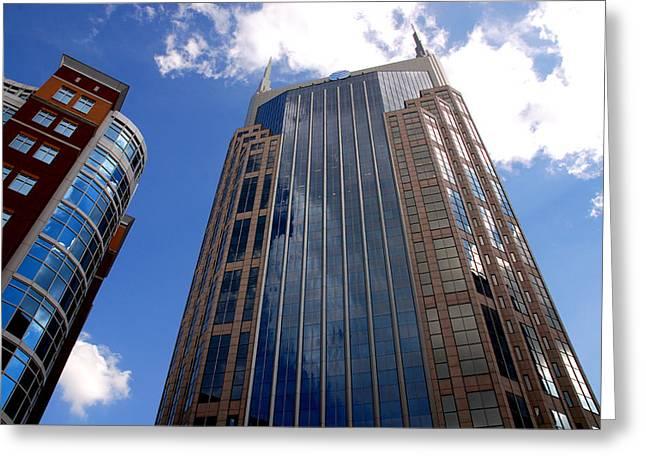 Buildings In Nashville Tennessee Greeting Cards - The Batman Building Nashville TN Greeting Card by Susanne Van Hulst