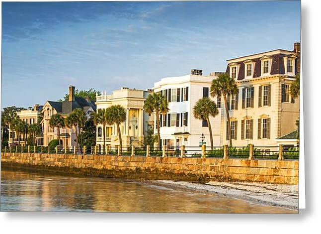 Recently Sold -  - Fineartamerica Greeting Cards - The Battery At Sunrise  Charleston SC Greeting Card by Willie Harper