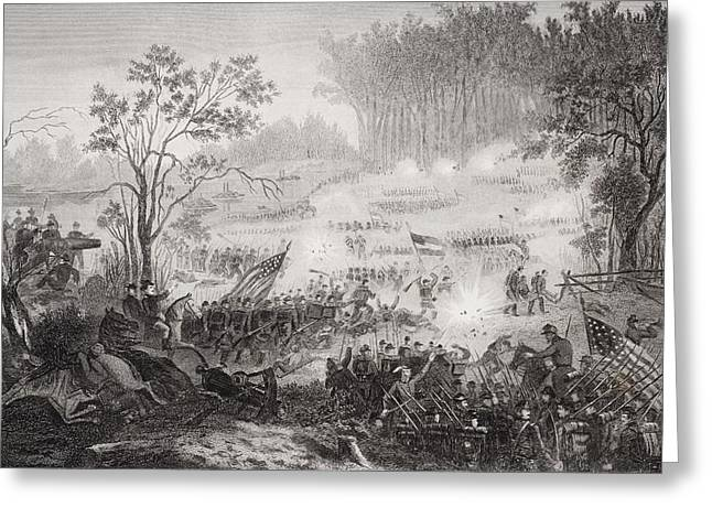 Engagement Picture Greeting Cards - The Battle At Pittsburg Landing Also Greeting Card by Ken Welsh