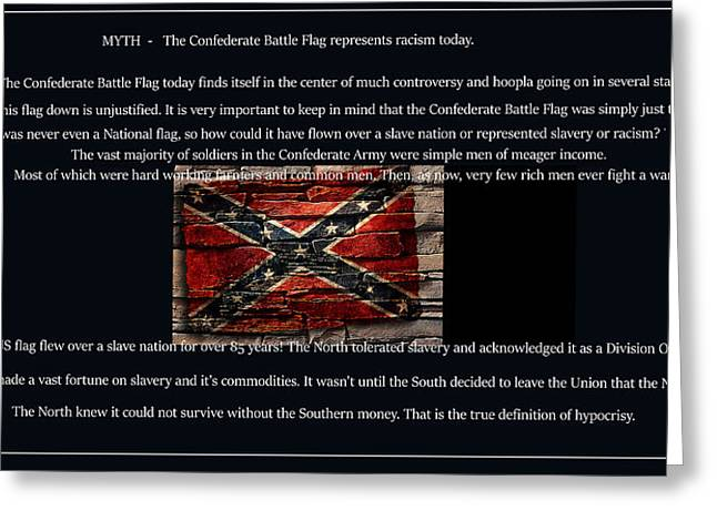 Confederate Flag Greeting Cards - The Battle Flag Greeting Card by John Anderson
