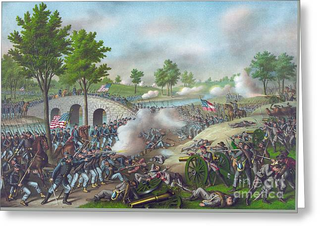 The Battle Of Antietam Greeting Card by American School