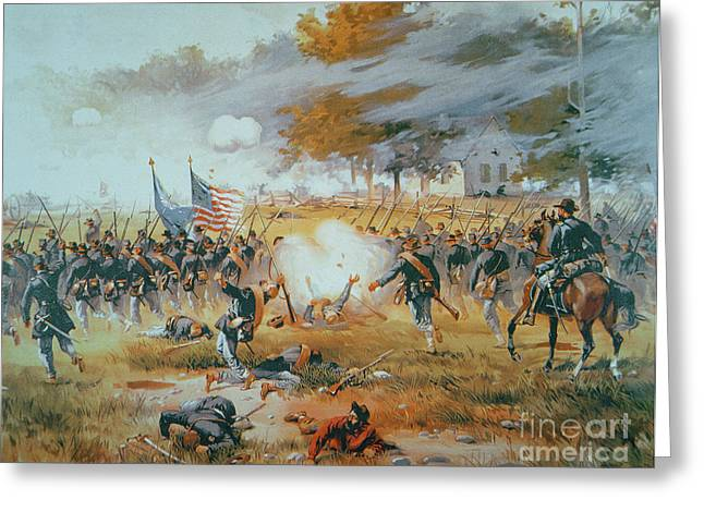 Wounded Warrior Greeting Cards - The Battle of Antietam Greeting Card by Thure de Thulstrup