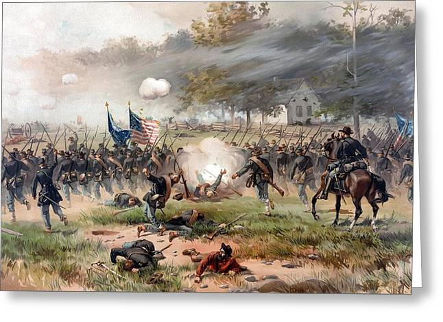 North Mixed Media Greeting Cards - The Battle of Antietam Greeting Card by War Is Hell Store