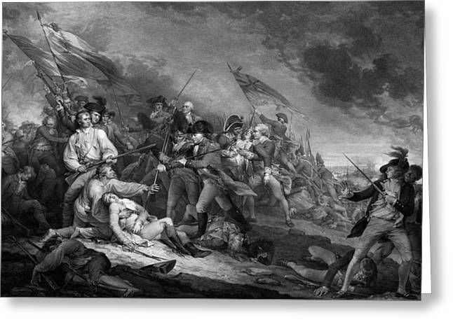 Siege Of Boston Greeting Cards - The Battle of Bunker Hill Greeting Card by War Is Hell Store