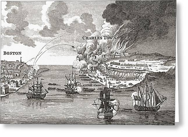 Bunker Hill Greeting Cards - The Battle Of Bunker S Hill And The Greeting Card by Ken Welsh