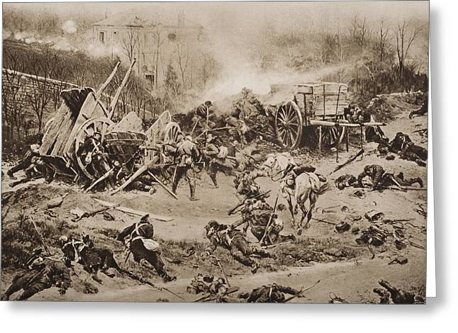 The Battle Of Champigny, November 30 Greeting Card by Vintage Design Pics