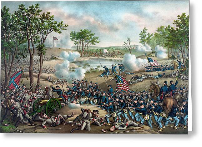 Overland Greeting Cards - The Battle of Cold Harbor Greeting Card by War Is Hell Store